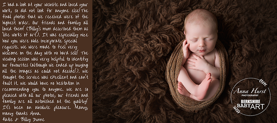 Reading Newborn Baby Photographer